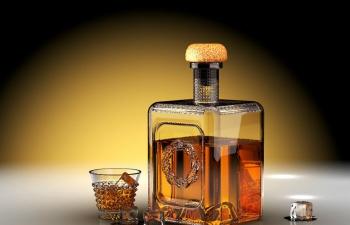 威士忌瓶子渲染练习