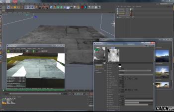 CINEMA 4D教程——使用OC渲染器创建湿路面