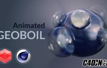 C4D教程-动画Geoboil效果 [红移]
