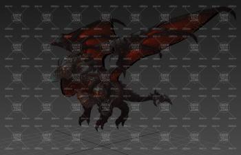 西方惡龍死亡之翼怪模C4D模型