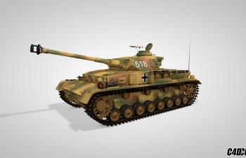 C4D坦克模型 518陆地坦克 战争武器