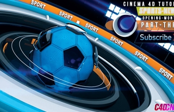 C4D教程 体育栏目包装片头摄像机动画K帧教程