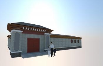 C4D北京四合院模型