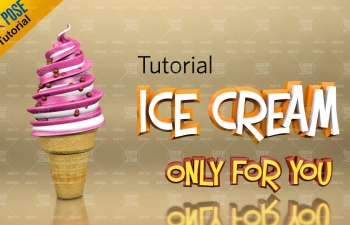 冰淇淋建模材質渲染C4D教程 Cinema 4D Tutorial - How to Create Ice Cream