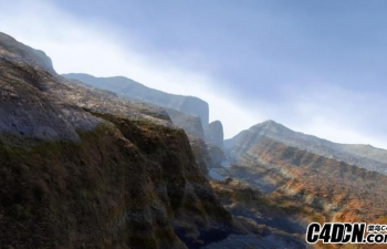 MAX 山脉沟壑地形模型