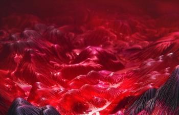 Octane渲染器红色山脉群工程