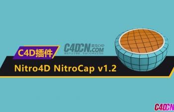 智能多边形封顶补洞C4D插件 Nitro4D NitroCap v1.2