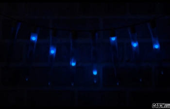 CINEMA 4D教程—— 创建动画冰柱圣诞灯