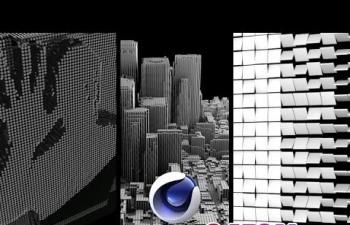 C4D克隆效果器制作翻转颜色变幻C4D教程