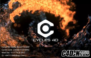 C4D插件-Cycles 4D1.0.0247  DEMO 渲染器试用版