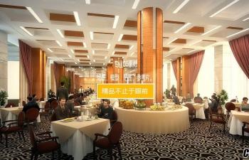 3D模型 自助餐厅装修效果图工程
