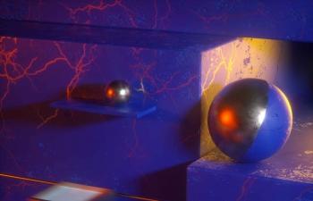 Octane渲染器闪电脉络纹理材质金属球C4D模型