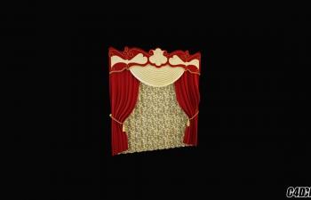 3D模型 现代装修 窗帘模型31
