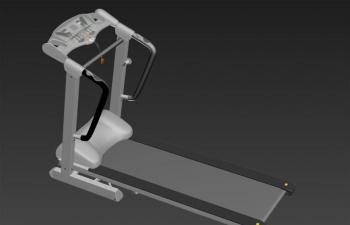 一个跑步机的模型TurboSquid - treadmill