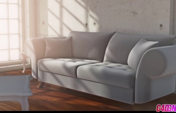 C4D教程 室内客厅沙发建模教程