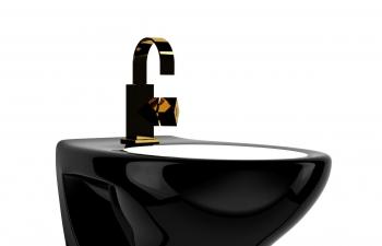 C4D模型 卫生间黑色陶瓷洗手池模型