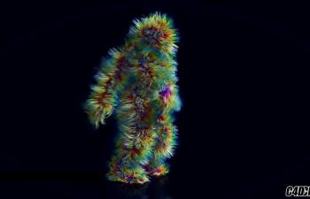 灰猩猩系列-C4D毛发绑定人物跳舞动画教程