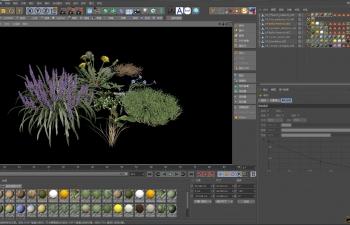 C4D预设 花草预设VIZPARK Real Grass C4D