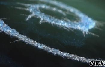 C4D创建冰晶的有机冰增长动画效果教程