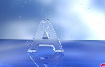 C4D模型 流体水缠绕的字母A