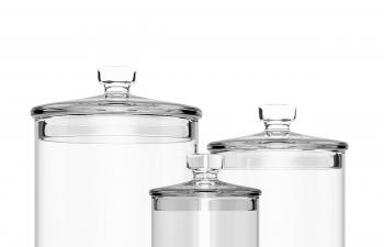 C4D模型 玻璃瓶储物罐子密封罐模型