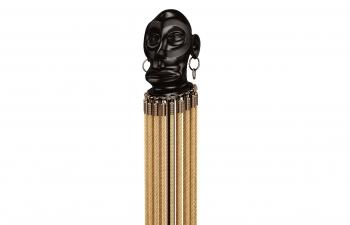 C4D模型 室内客厅人物头像风铃装饰品摆件模型