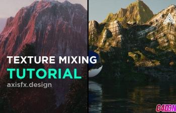 C4D教程 利用Octane渲染器制作逼真写实的山脉山体纹理材质渲染教程