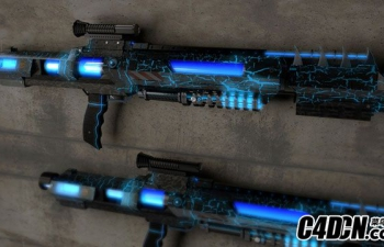 C4D卢克的激光枪模型 Halo Gun Luke Wittig