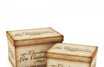 C4D模型 木头礼物盒模型