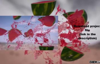CINEMA 4D教程——爆炸西瓜Realflow和红移渲染