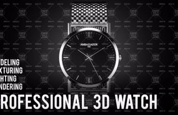 C4D教程:手表建模、渲染、灯光的完整教程(OC)