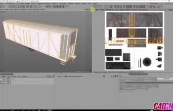 C4D+photoshop制作集装箱UV拆分贴图教程