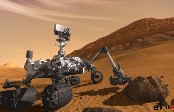 C4D好奇号火星车模型 Curiosity Mars Rover Model