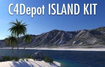 C4Depot - Cinema 4D海岛套件,60个高品质的模型