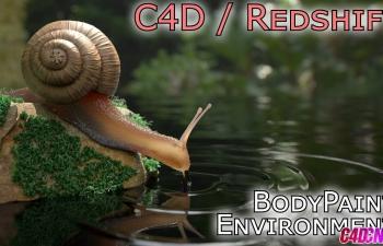 C4D Redshift渲染器制作逼真写实的蜗牛建模材质渲染教程(含模型) SSS材质