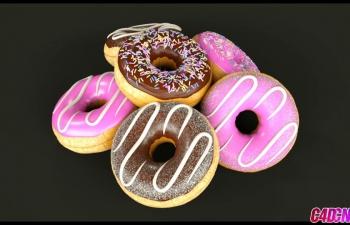 Octane渲染器制作巧克力甜甜圈蛋糕食品美食建模渲染C4D教程 Cinema 4d