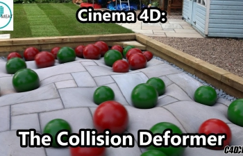 C4D教程 碰撞变形模拟制作 Cinema 4D The Collision Deformer