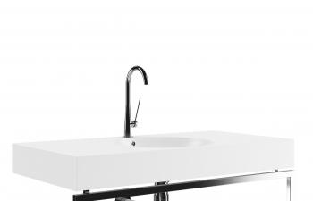 C4D模型 现代时尚金属水龙头洗手池模型