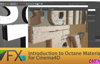 Octane渲染器木纹木头材质基础C4D教程