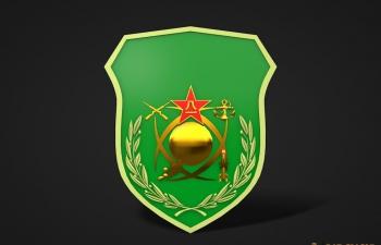 八一军徽模型