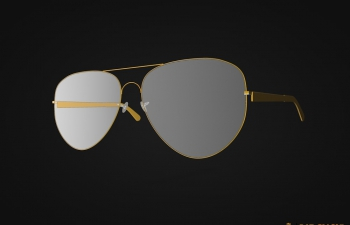 金边眼镜模型Rim glasses model