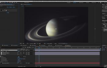 C4D教程 Octane渲染器制作渲染带光环的星球教程 宇宙 太空