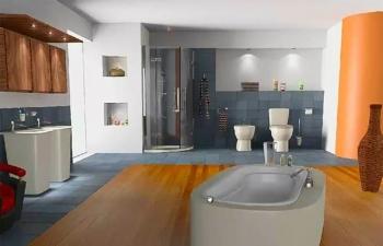 C4D制作浴室室内场景(模型材质,教程)