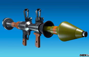 CINEMA 4D教程——3D导弹武器建模和纹理渲染堡垒之夜Fortnite RPG