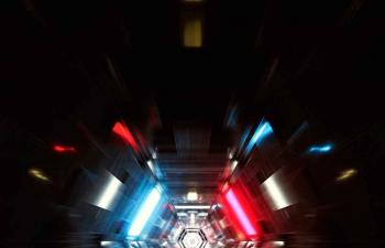 Octane渲染器神秘空间隧道穿梭C4D模型