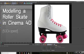 CINEMA 4D教程——轮滑旱冰鞋建模与渲染