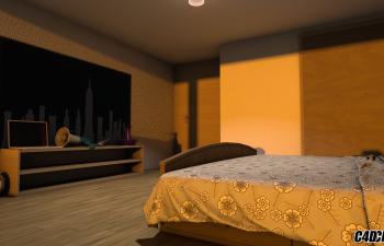 C4D可控房屋卧室预设汉化版
