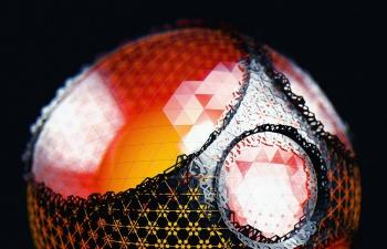 C4D精品工程 No.441 炫彩漂亮的玻璃钻石艺术球体