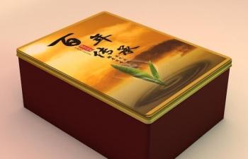 茶盒外金属包装模型
