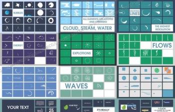 500多枚液体/流体主题的MG动态特效元素AE模板